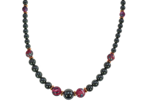 Iron Ore Necklace Plum