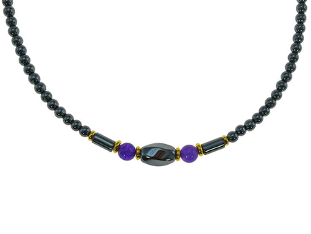 Iron Ore Amethyst Necklace