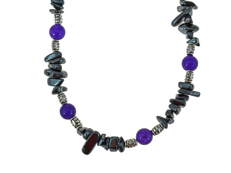 Iron Ore Amethyst Chip Necklace
