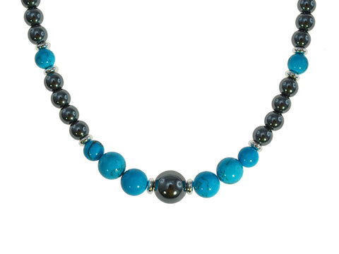 Iron Ore Turquoise Necklace