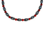 Iron ore Twist with Red Beads