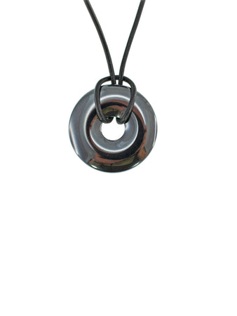 Iron Ore Donut 30mm On Leather