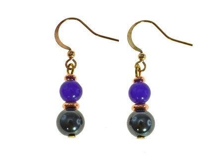 Magnetic Iron Ore Earring Amethyst