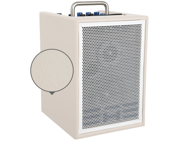 "Elite Acoustics ""EAE"" A1-4 CREAM - Rechargeable Acoustic Amplifier with Mixer, Monitor Controls, Digital Effects, and Bluetooth"