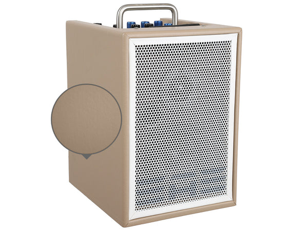 "Elite Acoustics ""EAE"" A1-4 TAN -  Rechargeable Acoustic Amplifier with Mixer, Monitor Controls, Digital Effects, and Bluetooth"