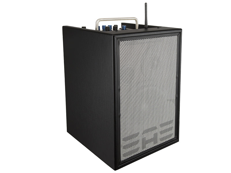 "Honolulu -  Elite Acoustics ""EAE"" A4-8 MKII 80 Watt Lithium Battery Powered Acoustic Amplifier with 4 chan/effects and Bluetooth®"