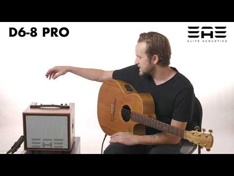 "Elite Acoustics ""EAE"" D6-8 PRO 80 Watt Acoustic Guitar and Vocal Amplifier - with 6 channel Digital Mixer/Bluetooth - *AC powered*"