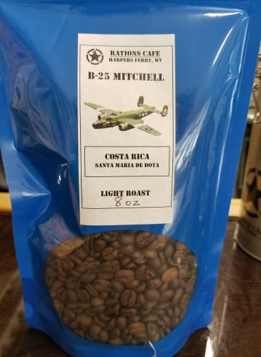 Light Roast, Costa Rica, B-25, 8 ounce