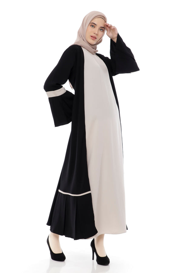 Dress Sabitha Black - Cream