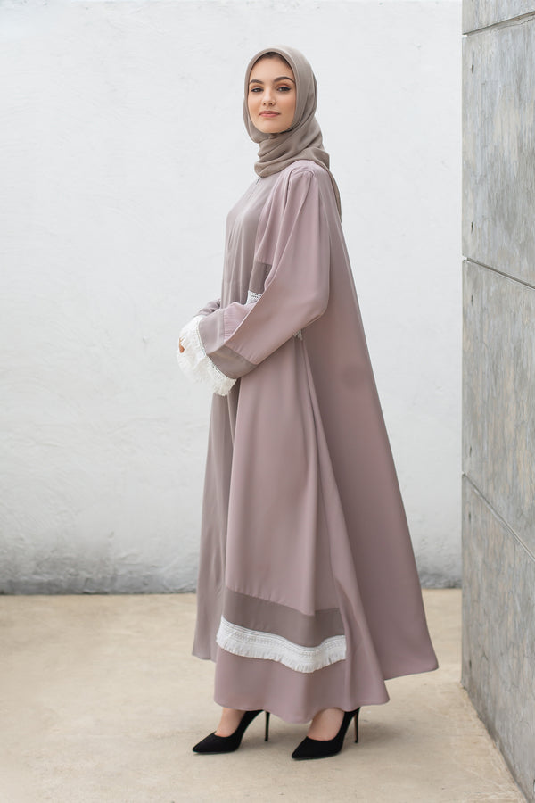 Abaya Rubby Lace Busui Purple