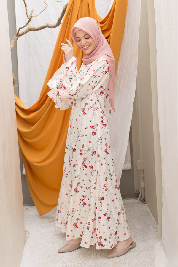Dress Motif Liora Cream