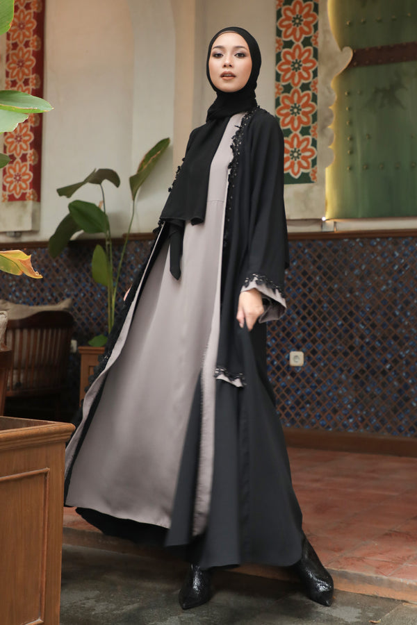 Abaya Daria Lace Busui Coffee