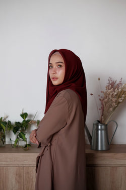 Hijab Square Cornskin Red