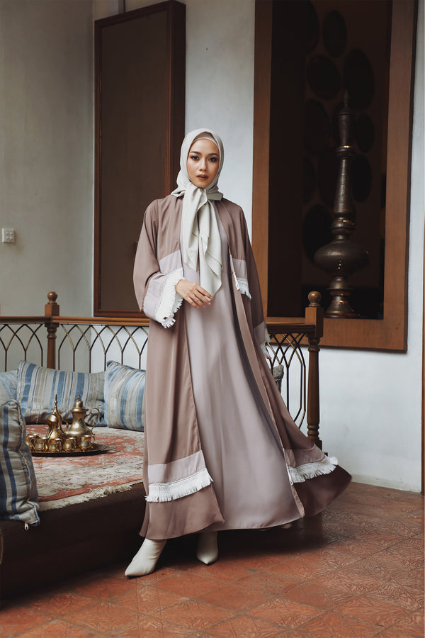 Abaya Eiza Lace Busui Brown