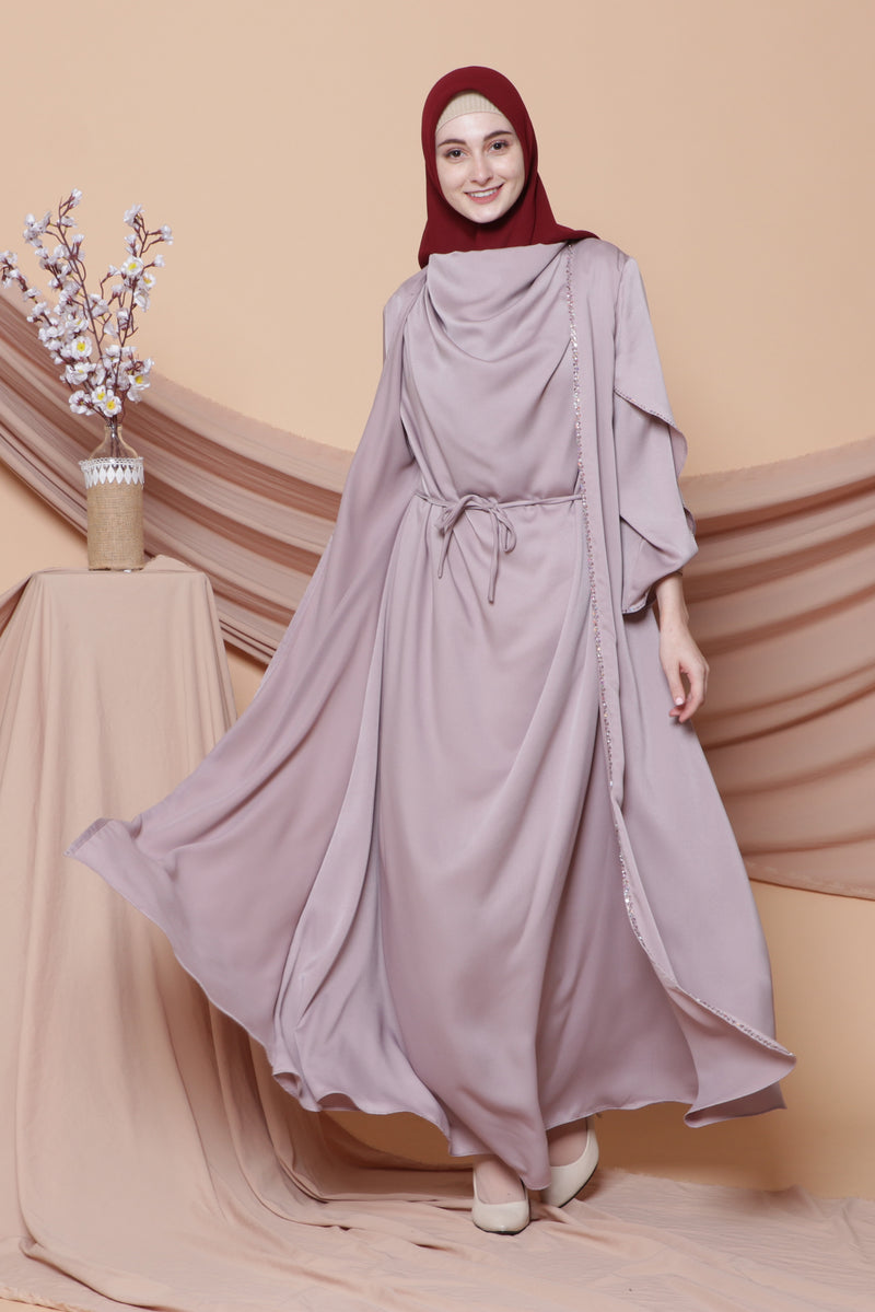 Kaftan Binar Soft Purple