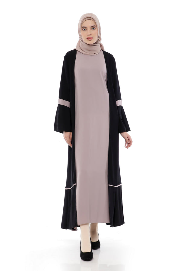 Dress Sabitha Black - Purple