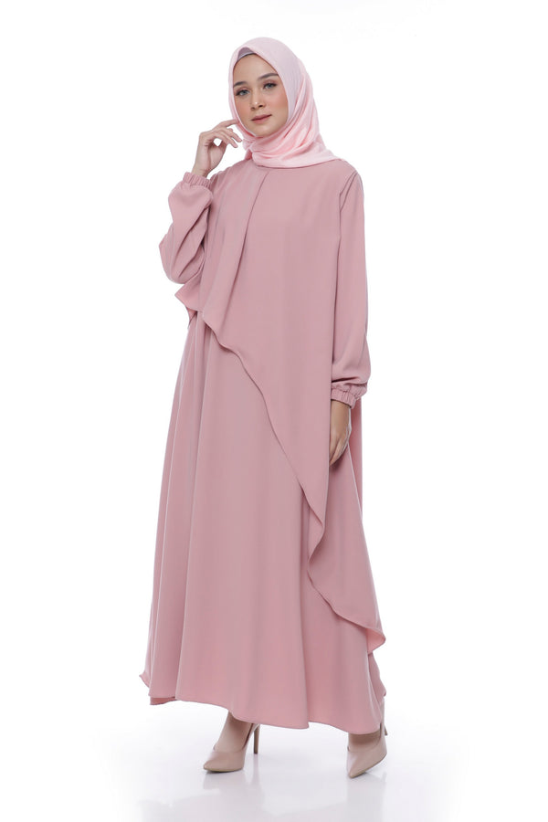 Dress Aisyah Busui Dusty Pink