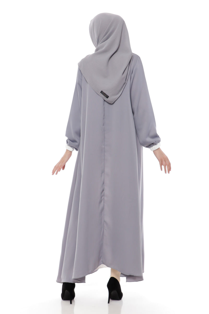 Dress Delyth Two Layer Light Grey