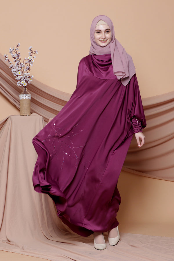 Kaftan Ranting Dark Purple