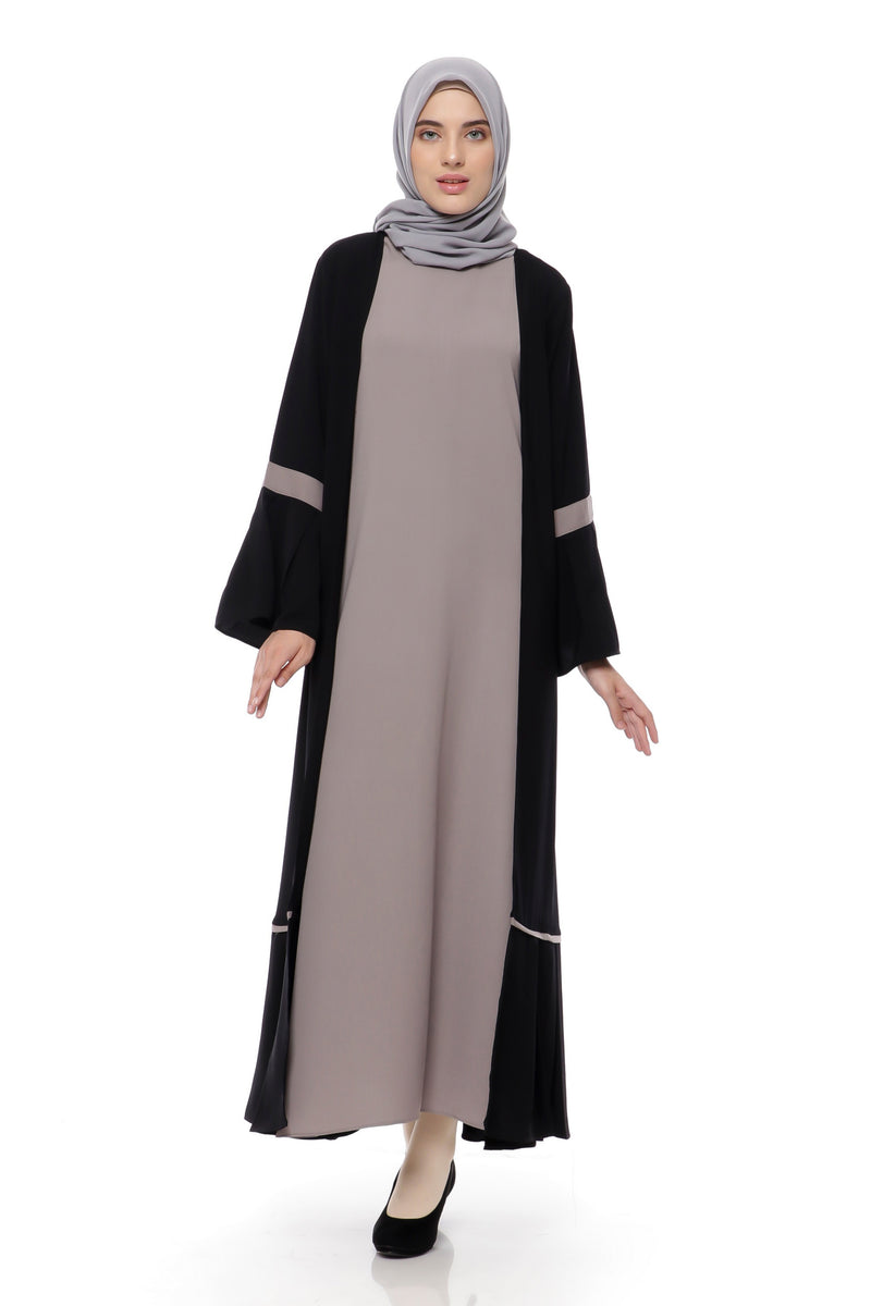 Dress Sabitha Black - Coffee