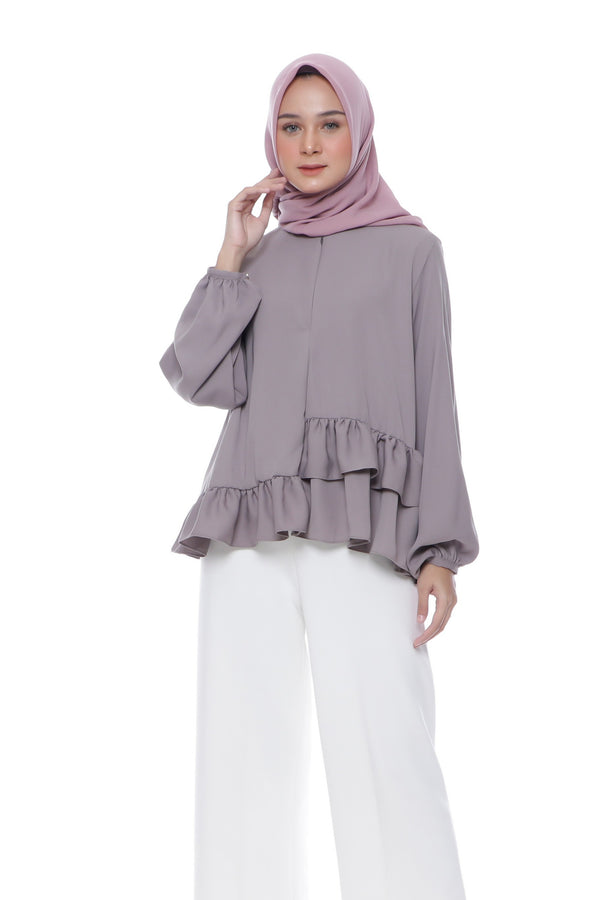 Blouse Zily Busui Coffee