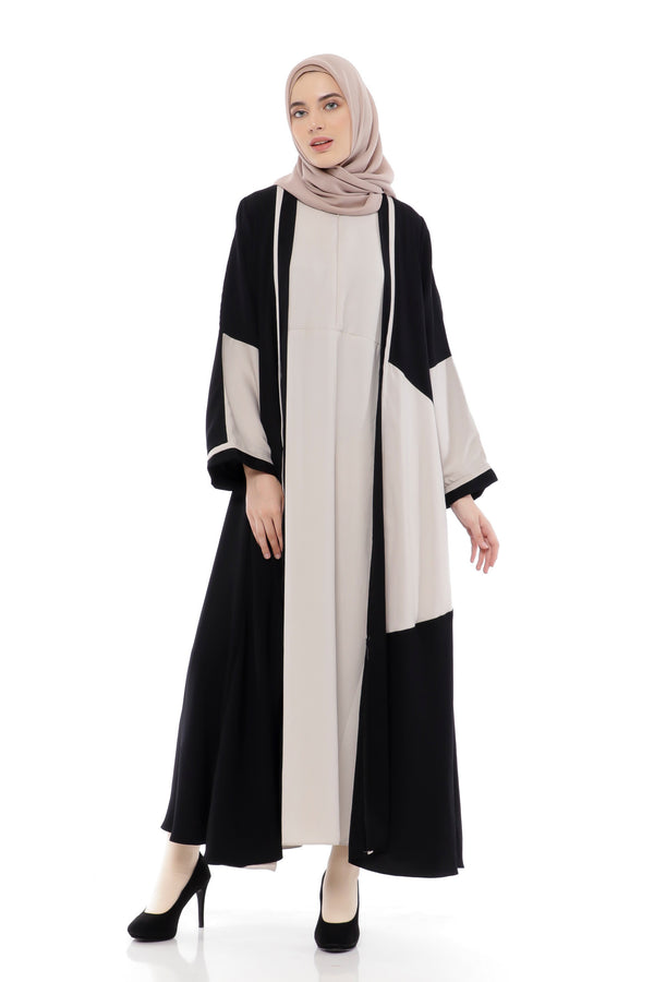 Dress Taffani Busui Black - Cream