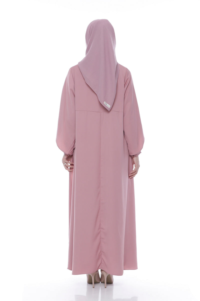Dress Raihanah Busui Dusty Pink