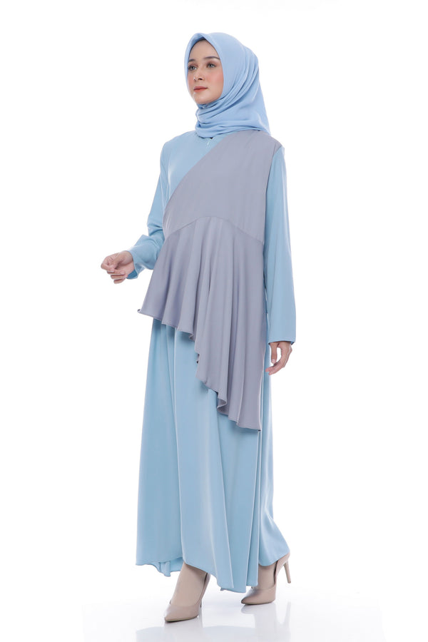 Dress Naresha Busui Blue Tosca