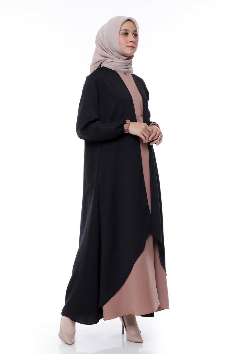 Dress Keisha Black-Brown