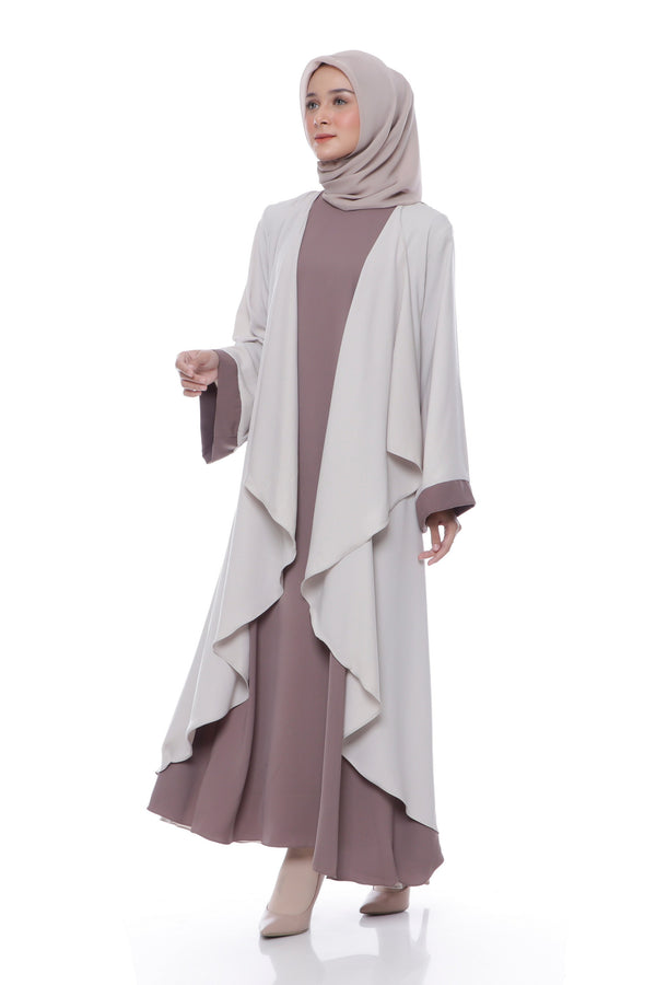 Dress Marissa Cream - Brown