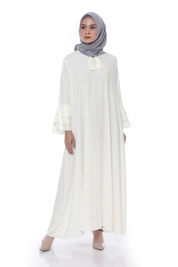 Dress Neck Bella White