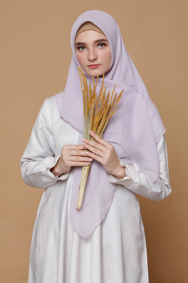 Hijab Square Cornskin Soft Purple