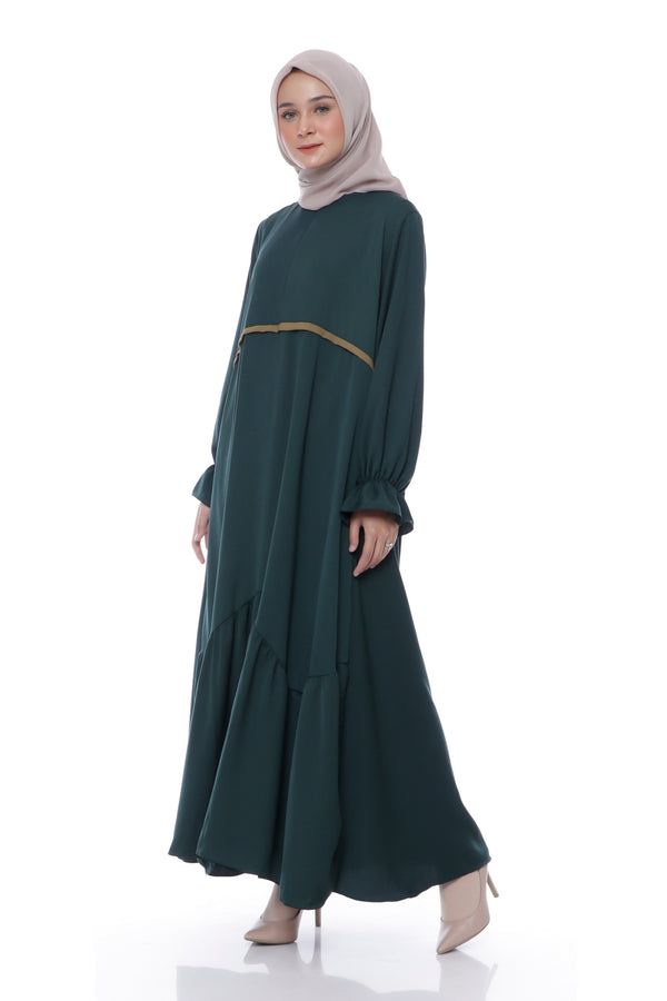 Dress Farisa Busui Hijau Botol