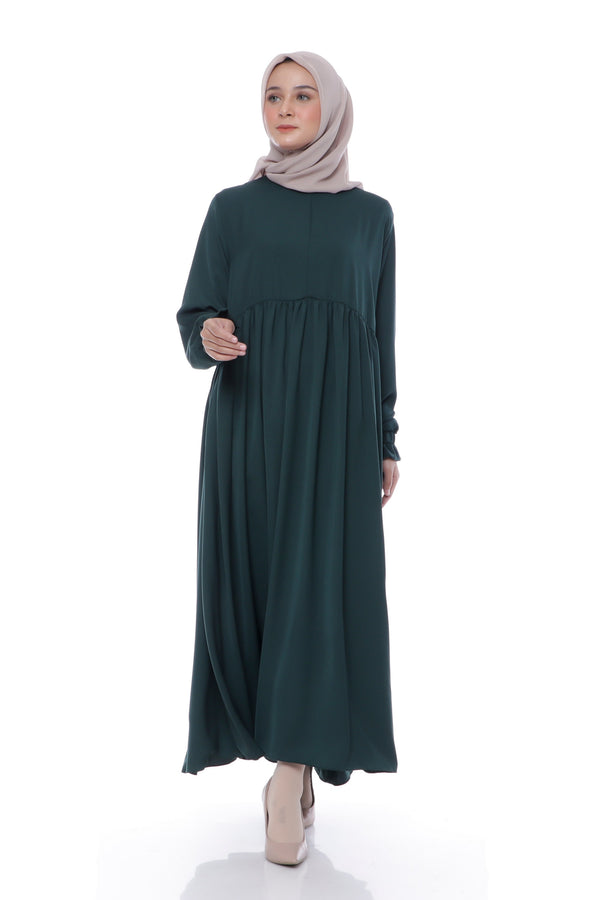 Dress Akilah Busui Hijau Botol