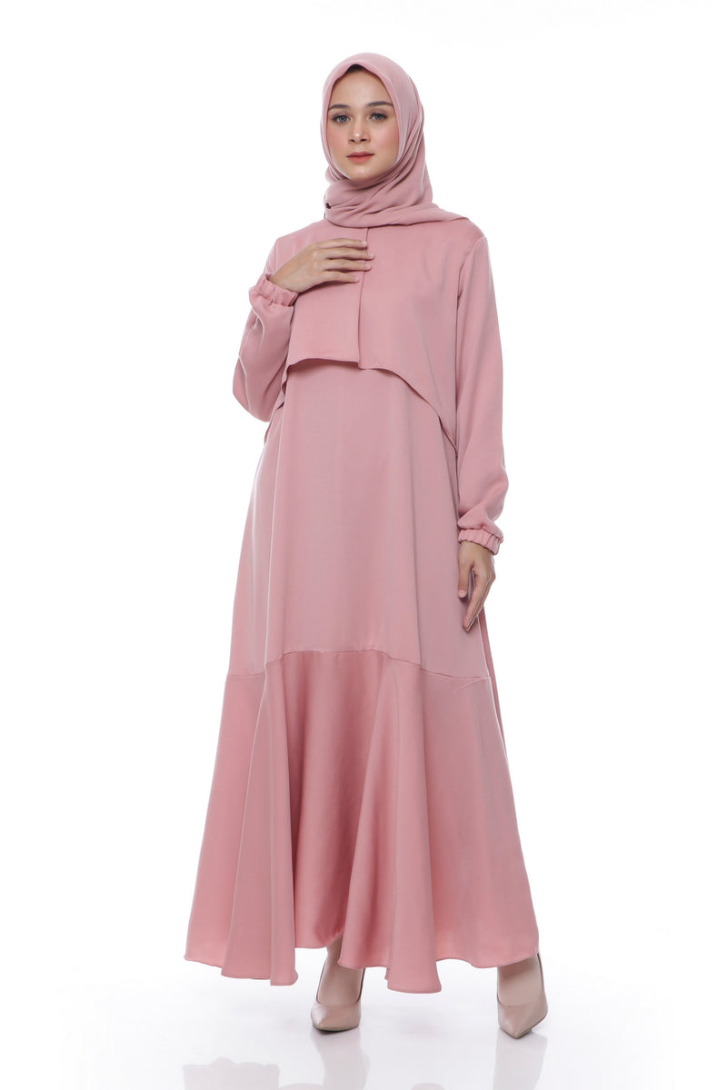 Dress Isyana Dusty Pink