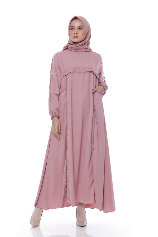 Dress Amanda Pocket Dusty Pink