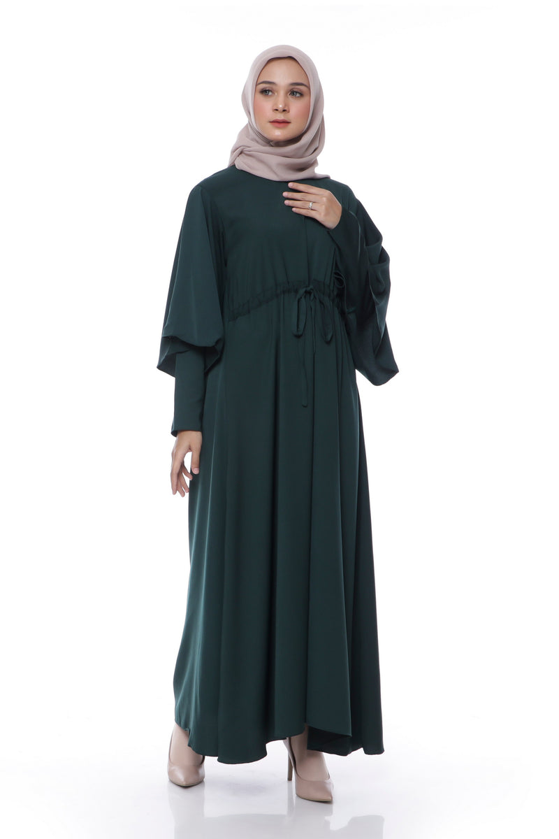 Dress Zahirah Hijau Botol