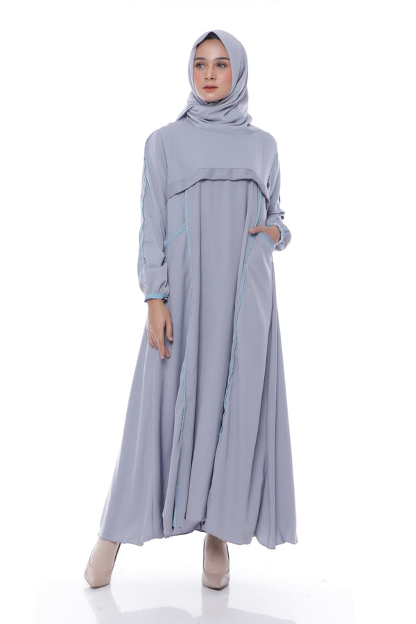 Dress Amanda Pocket Grey