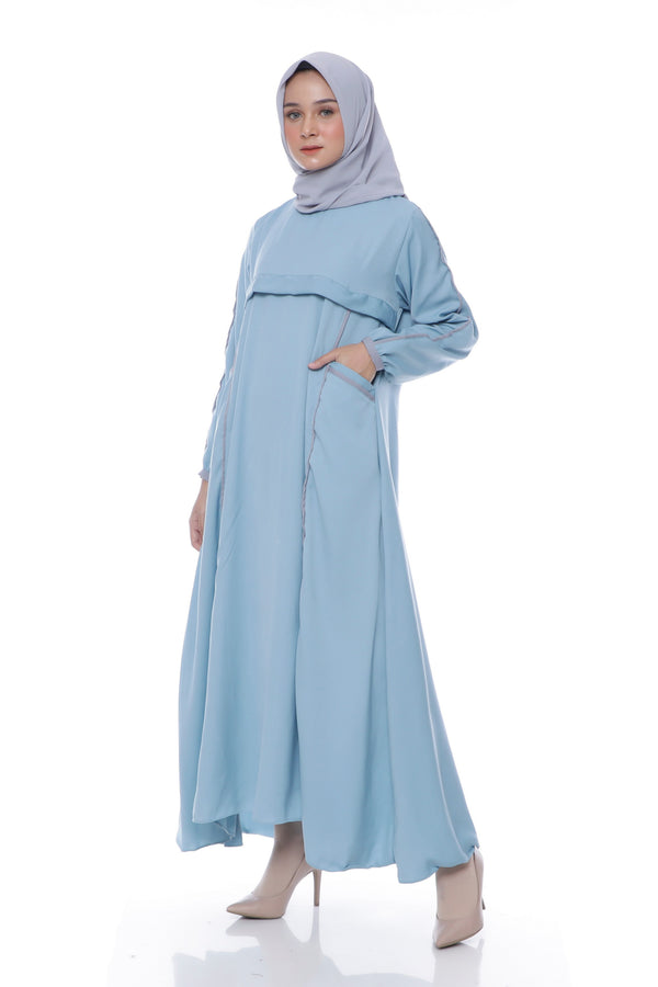 Dress Amanda Pocket Blue Tosca