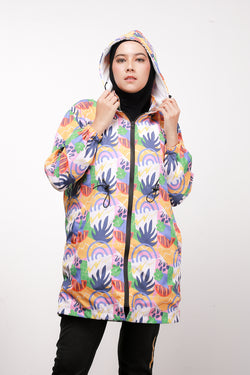 Monstera All Over Print Jacket