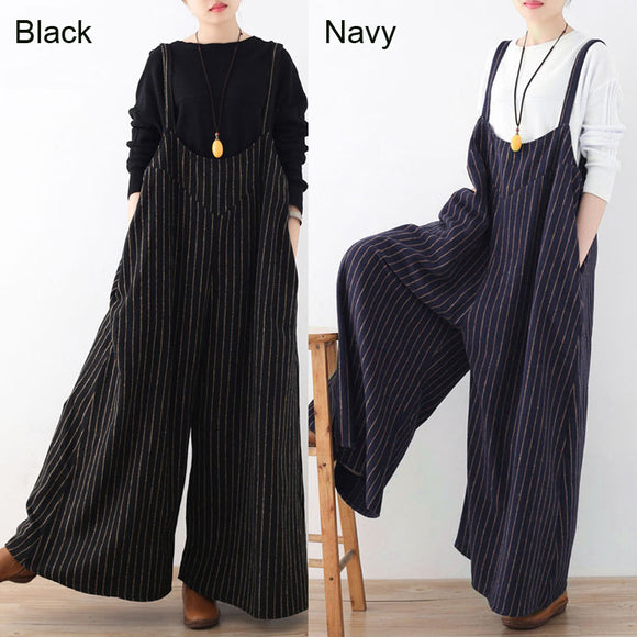 43b63744fa3 ... Celmia Summer Rompers Womens Jumpsuit 2018 Fashion Striped Long Playsuit  Casual Loose Sexy Backless Oversized Overalls