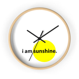 i got sunshine on my wall clock