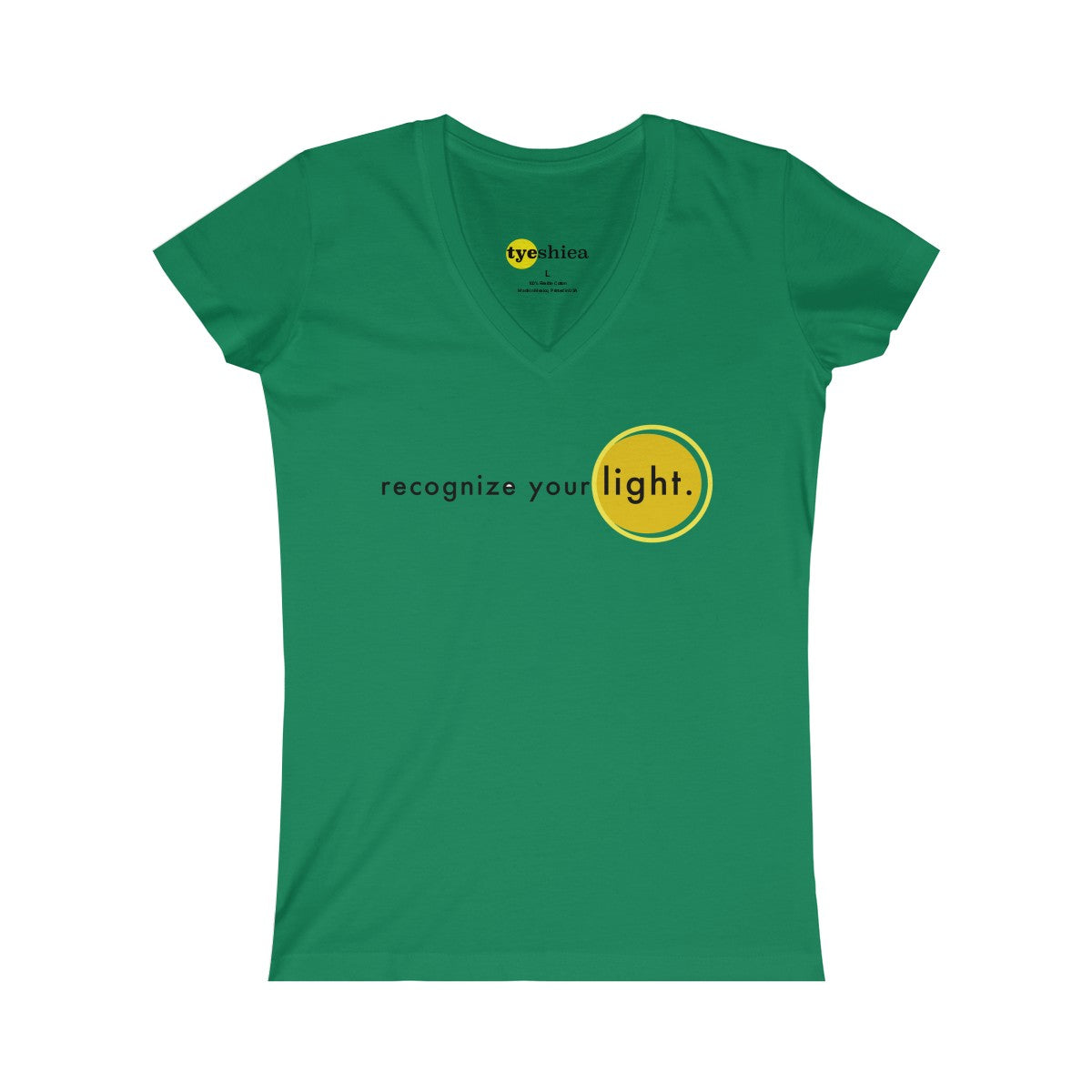 recognize your light... Women's Fine Jersey V-neck Tee