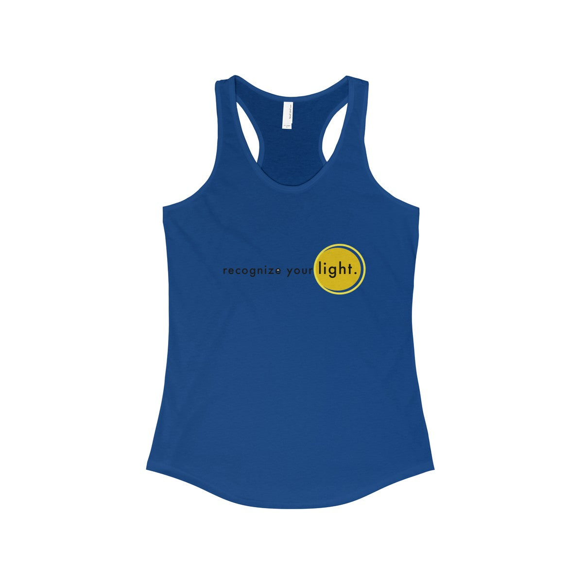 recognize your light... Women's Ideal Racerback Tank