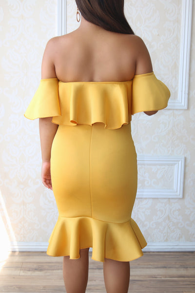 New Dolly Dress - Mustard
