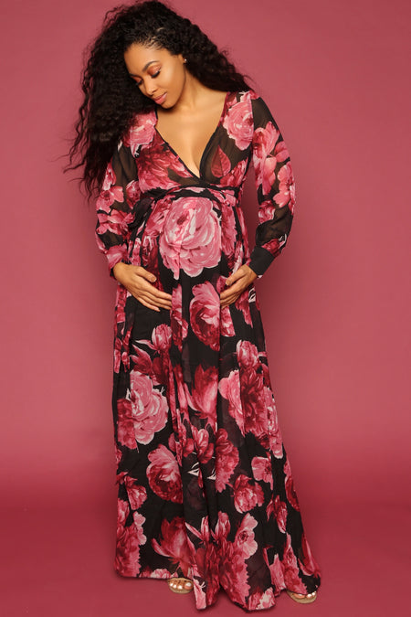 Winter Floral Gown