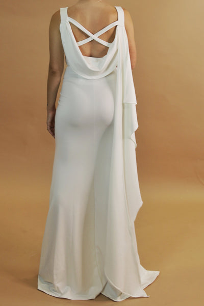 Draped Back maternity gown