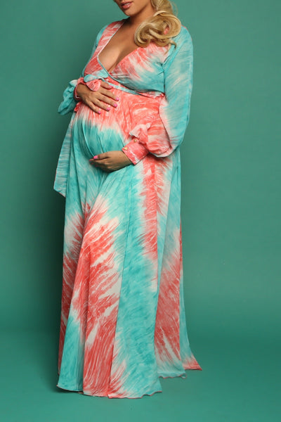 Sian Wrap Gown