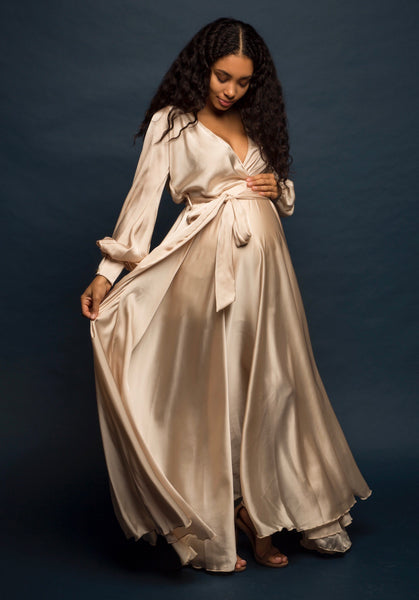 Champagne Wrap Gown +