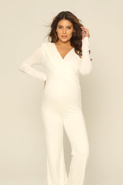 White Maternity jumpsuit